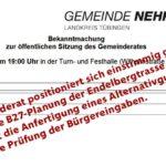 Gemeinderat geschlossen gegen die Endelbergtrasse